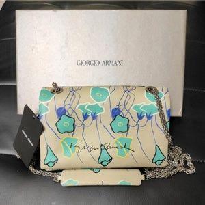 Giorgio Armani Leather Clutch/Handbag